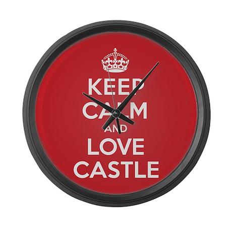 K C Love Castle Large Wall Clock