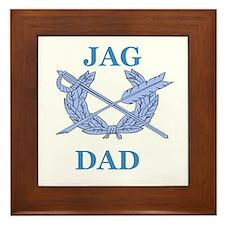 JAG DAD Framed Tile