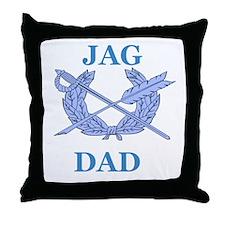 JAG DAD Throw Pillow