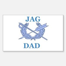 JAG DAD Rectangle Decal