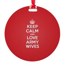 K C Love Army Wives Ornament