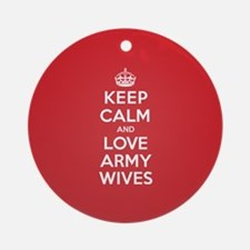 K C Love Army Wives Ornament (Round)