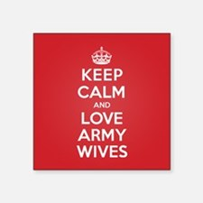 "K C Love Army Wives Square Sticker 3"" x 3"""