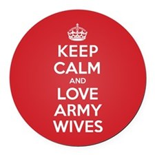 K C Love Army Wives Round Car Magnet