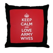 K C Love Army Wives Throw Pillow