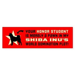 SHIBA INU World Domination Bumper Bumper Sticker