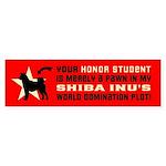 SHIBA INU World Domination Bumper Sticker