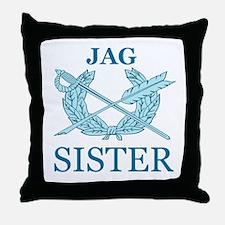 JAG SISTER Throw Pillow