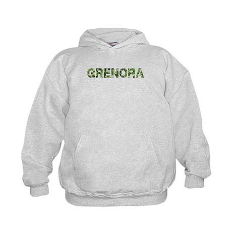 Grenora, Vintage Camo, Kids Hoodie