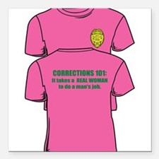 """Corrections101tees Square Car Magnet 3"""" x 3"""""""