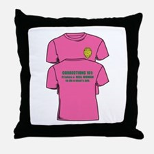Corrections101tees Throw Pillow