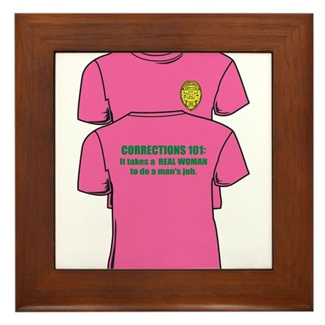 Corrections101tees Framed Tile