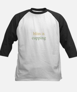 bliss is CUPPING  Kids Baseball Jersey