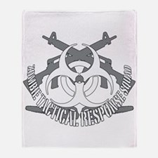 Zombie tactical response squad Throw Blanket