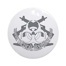 Zombie tactical response squad Ornament (Round)