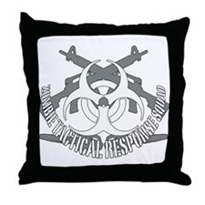Zombie tactical response squad Throw Pillow