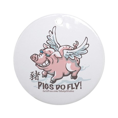 Flying Pig 2007 Ornament (Round)
