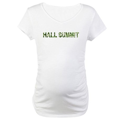 Hall Summit, Vintage Camo, Maternity T-Shirt