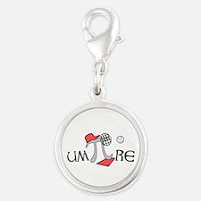 Funny um-Pi-re Silver Round Charm