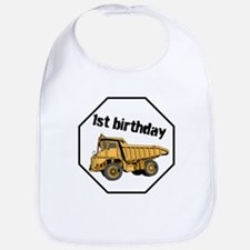 First Birthday Construction Baby Bib