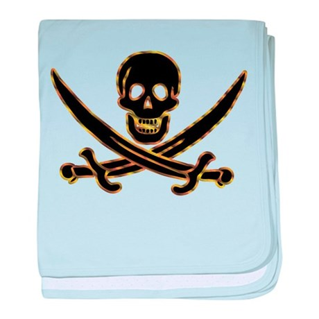 Pirate logo e7 baby blanket
