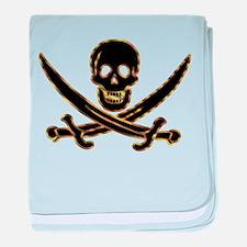 Pirate logo e7 baby blanket