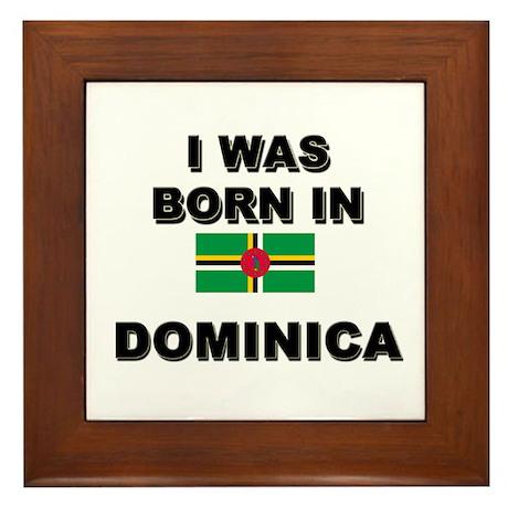 I Was Born In Dominica Framed Tile
