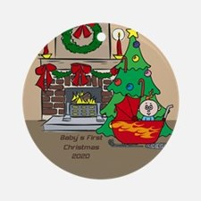 2020 Sledding Baby's First Christmas Ornament