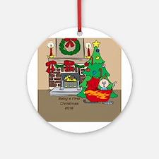 2018 Sledding Baby's First Christmas Ornament