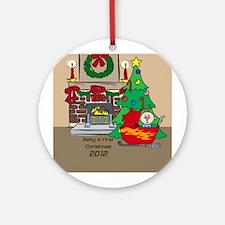 2012 Sledding Baby's First Christmas Ornament