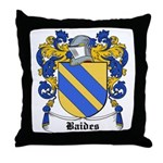 Baides Coat of Arms Throw Pillow