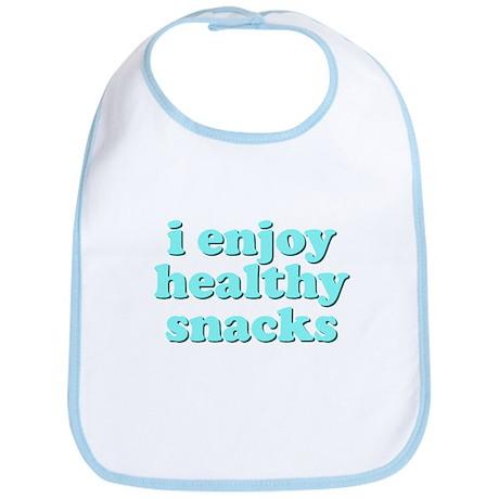 Cute! I Enjoy Healthy Snacks Bib