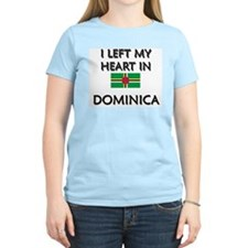 I Left My Heart In Dominica Women's Pink T-Shirt
