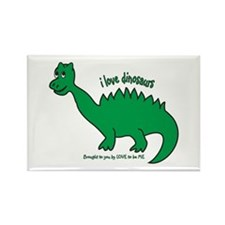 DINOSAUR - LOVE TO BE ME Rectangle Magnet