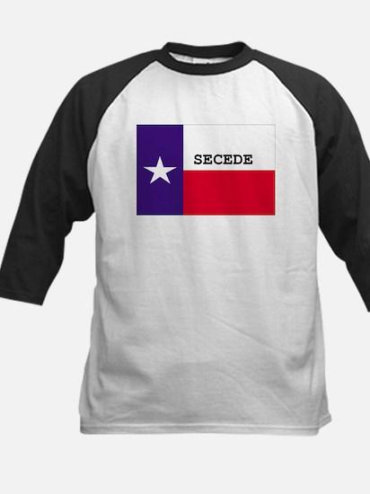 Texas Secede! Kids Baseball Jersey