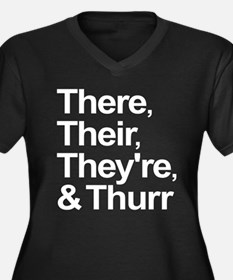 ThereTheirTheyreThurr Women's Plus Size V-Neck Dar