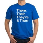 ThereTheirTheyreThurr Men's Fitted T-Shirt (dark)