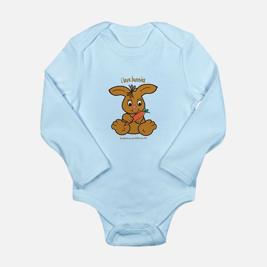 BUNNY - LOVE TO BE ME Long Sleeve Infant Bodysuit