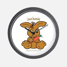 BUNNY - LOVE TO BE ME Wall Clock