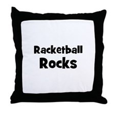 RACKETBALL Rocks Throw Pillow