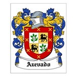 Azevado Coat of Arms Small Poster