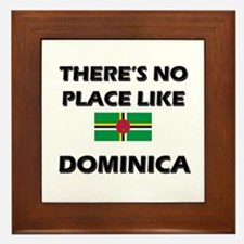 There Is No Place Like Dominica Framed Tile