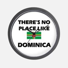 There Is No Place Like Dominica Wall Clock