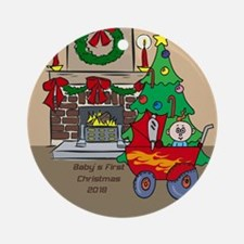 2018 Tractor Baby's First Christmas Ornament