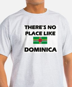 There Is No Place Like Dominica Ash Grey T-Shirt