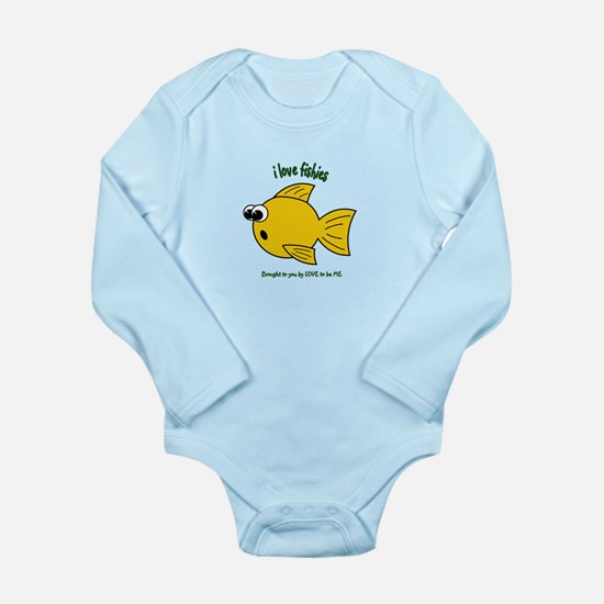 I LOVE FISH - LOVE TO BE ME Long Sleeve Infant Bod