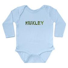 Huxley, Vintage Camo, Long Sleeve Infant Bodysuit