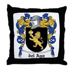 del Ayo Coat of Arms Throw Pillow