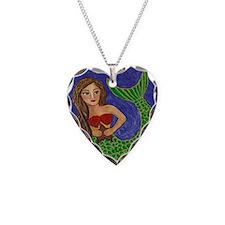 Mermaid and Starfish Necklace