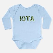 Iota, Vintage Camo, Long Sleeve Infant Bodysuit